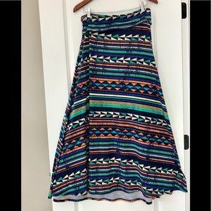 LulaRoe Southwest maxi skirt + strapless dress!